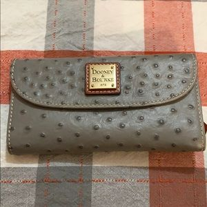 Dooney and Burke ostrich skin wallet